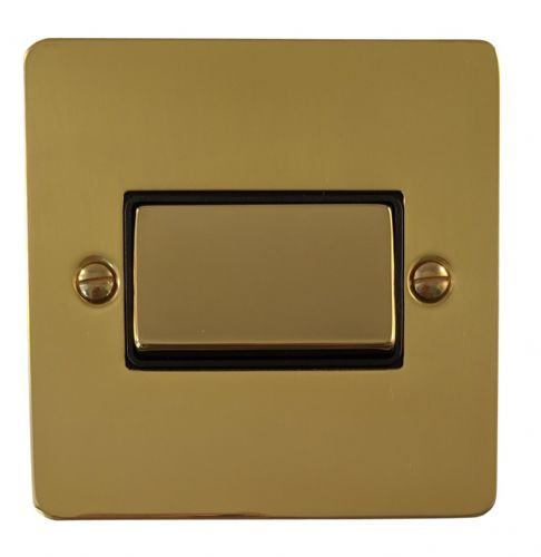 G&H FB369 Flat Plate Polished Brass 1 Gang Triple Pole 10A Fan Isolator Switch
